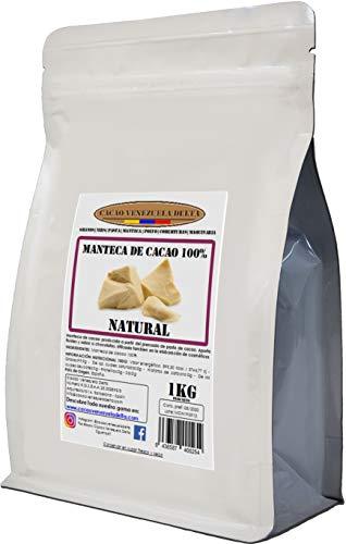 Manteca De Cacao 100% - Tipo Natural - Bolsa 1kg - Calidad Extra - Cacao Venezuela Delta