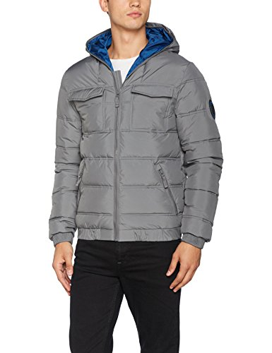 Bench Herren Schoolboy Jacket Jacke, Grau (Dark Grey Gy149), X-Large