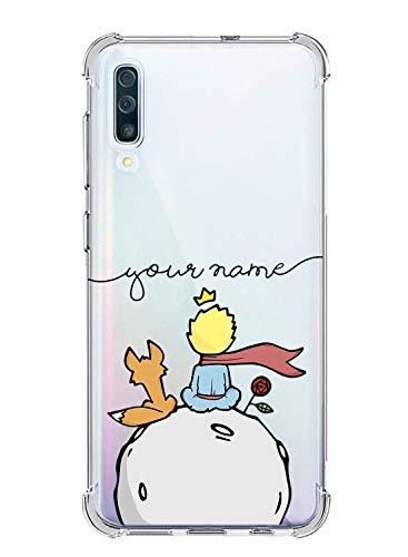 Suhctup Compatible con Samsung Galaxy A5 2018 Funda para Silicona con Dibujos Animados Diseño Cárcasa Ultra-Fina Transparente Suave TPU Choque Cojín de Esquina Parachoque Caso-Principito