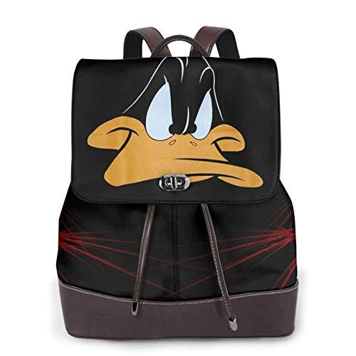 xiameng Taz Looney Damen Leder Rucksack Multifunktions College School Laptop Bookbag