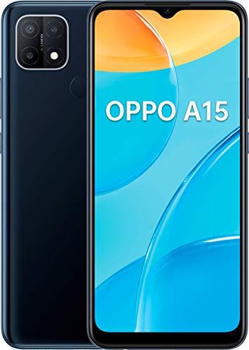 OPPO A15 Negro Dinámico Móvil 4g 6.52'' HD+ Octacore 32gb 3gb Ram Tricam 13mp Selfies 5mp