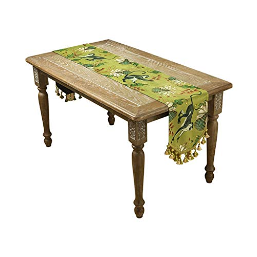 Small and Fresh Printing Pattern Table Runners, Dining Table and Coffee Table, Long Decorative Cloth Bed Runners, Wedding Holiday Party Center Home Decoration, is the Best Choice for Valentine's Day G