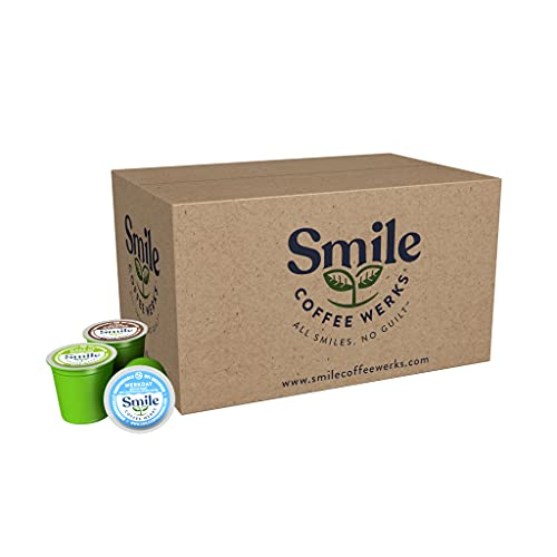 Smile Coffee Werks, Compostable Coffee Pods, Compatible with Keurig 2.0 K-Cup Brewers, Three Flavor Variety Pack, 24 Count