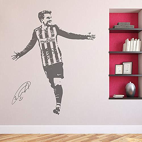 Antoine Griezmann Wandtattoo Atletico Fußball Fußballspieler Frankreich Removable Wandvinylwandaufkleber Sports 56cmX70cm