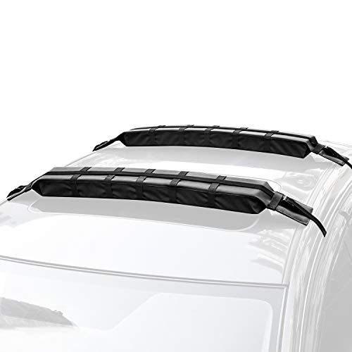 WOOWAVE Kayak Roof Rack Pads Universal Car Roof Rack Soft...