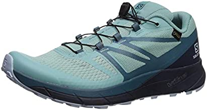 Salomon Women's Sense Ride 2 GTX Invis Fit Trail Running Shoes, Nile Blue/Navy Blazer/Mallard Blue, 10