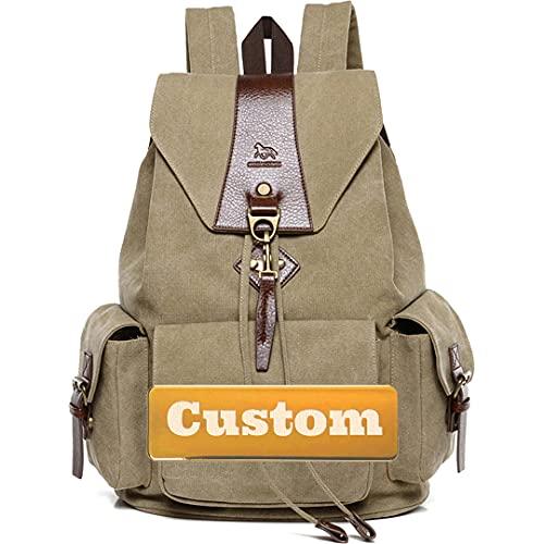 TCross Nome personalizzato Nome personalizzato Mini Borsa leggera Lightweight Daypack Zaino piccolo minimalista nero (Color : Kaqise, Size : One size)