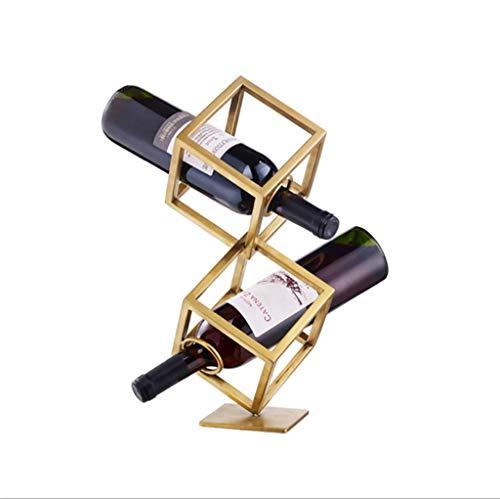 YYDE - Soporte de Metal para Almacenamiento de Vino, Ahorra Espacio para refrigerador, pequeño botellero y Soporte para Botellas de Vino (Dorado), 1 Bottles