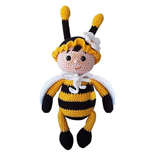 wintom Feliz Día Mundial de la Abeja Gnomo Decoración para el Hogar, Bumble Bee Rayas Gnomo Escandinavo Miel Sueca, Hecho a Mano Enano Faceless Felpa Elfos Vestidos como Abejas Elfos
