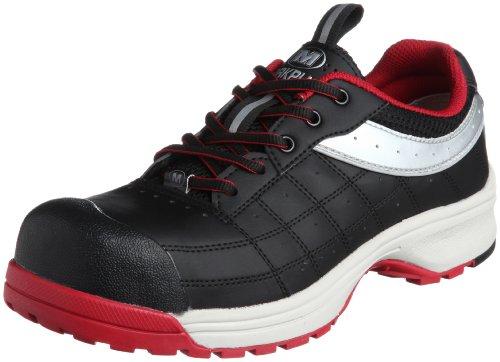 [ミドリ安全] 安全作業靴 JSAA認定 トゥキャップ付き プロスニーカー MPN902 メンズ ブラック/レッド 23.5 cm 3E