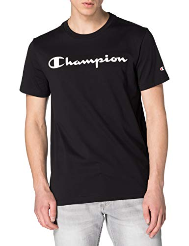 Champion Herren Legacy Classic Logo T-Shirt, Schwarz, XL