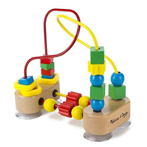 Melissa & Doug- First Bead Maze Laberinto con ventosa, Multicolor (Melissa&Doug 13042) , color/modelo surtido