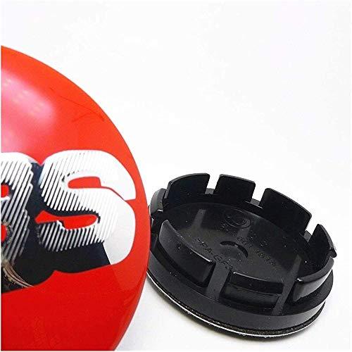 Para BBS 16 inch Golf MK3 Tires 56mm, 4 Piezas Coche Tapas centrales Aleación Tapacubos con Emblema De Insignia Embellecedor Central De Llanta De Rueda Cubre Accesorios
