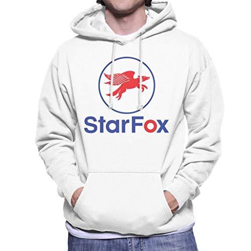 Yanmai,.Starfox Mobil Logo Mashup Sudadera con Capucha para Hombre S