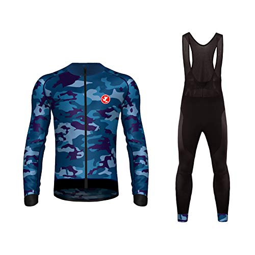 Uglyfrog Completo Uomo Maglia Ciclismo Invernale Abbigliamento Inverno da Bici Manica Lunga e Pantaloni Confortevole Traspirante
