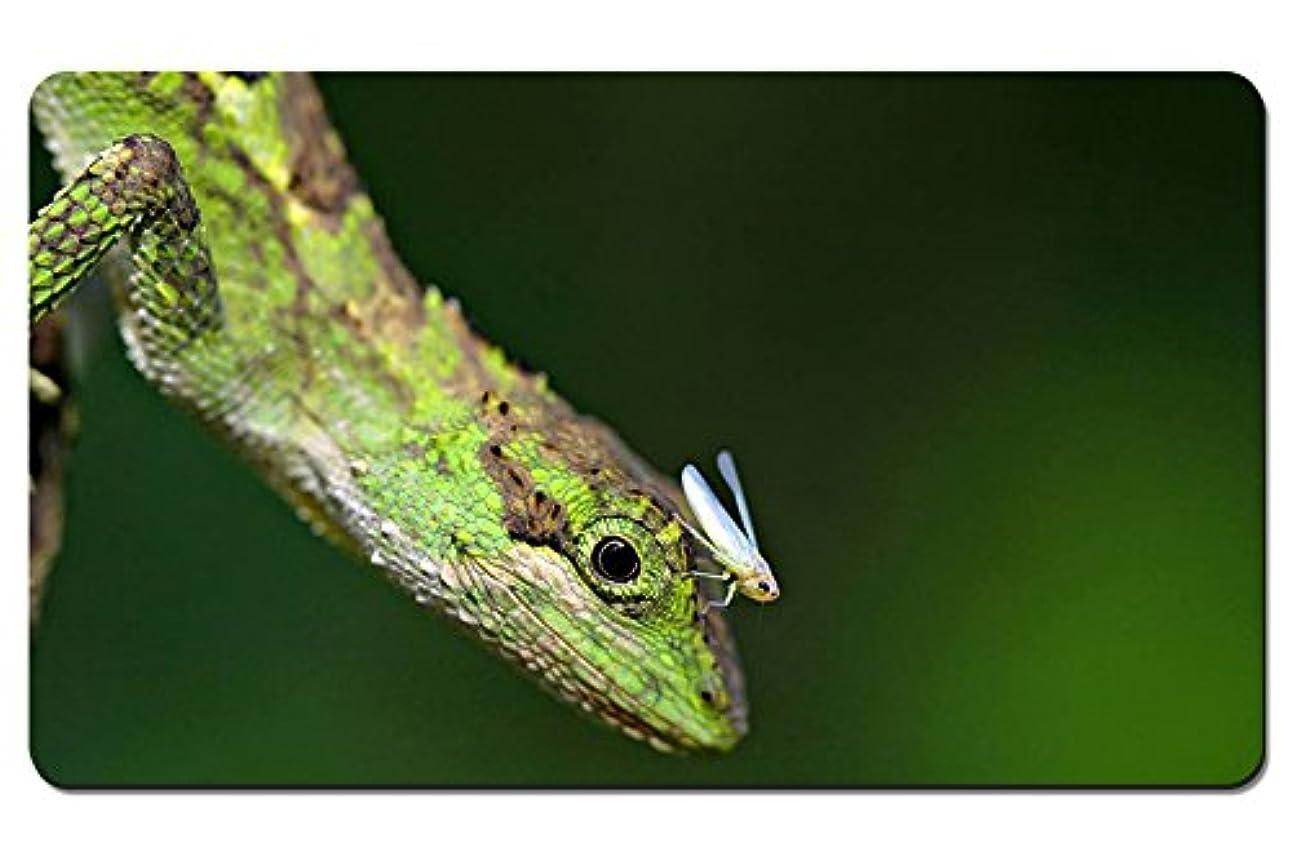 親愛な債務者リーズ昆虫と爬虫類のトカゲ パターンカスタムの マウスパッド 動物 デスクマット 大 (60cmx35cm)