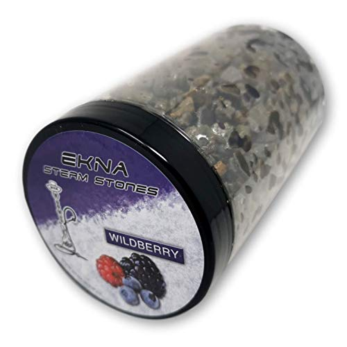 EKNA® SteamStones Wildbeeren 500g - Dampfsteine ohne Teer & Nikotin - Die Wasserpfeifen Tabak Alternative! Steam Stones (Wildberry-500g)