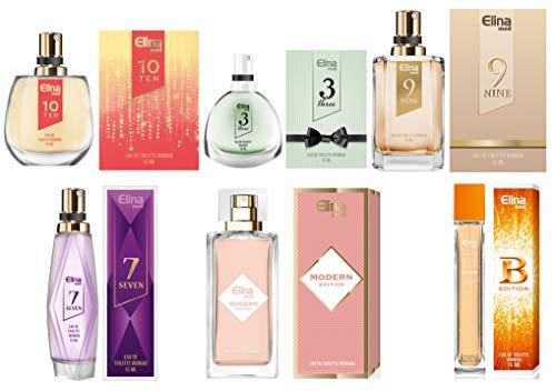 Trend Düfte: Set X 6 Parfüm für Damen 15 ML jedes einzeln in Box Spray Köpfe + Geschenk Tasche gratis