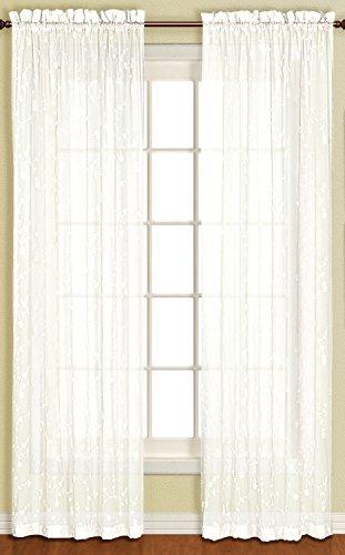 United Curtain Savannah Window Curtain Panel, 51 by 84-Inch, Oyster