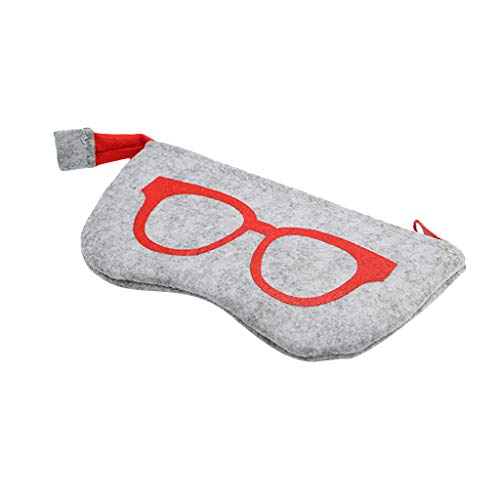 Moonuy Brillenetui Sonnenbrillendruck Felt Case Fashions Brillenetui mit Reißverschluss Pouch Soft Zip Glasses Case