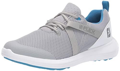 FootJoy womens Fj Flex Previous Season Style Golf Shoes, Grey/ White, 8.5 US