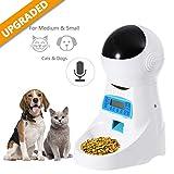 Automatic Cat Feeder Pet Food Dispenser Feeder Medium Large Cat Dog——4 Meal, Voice Recorder...