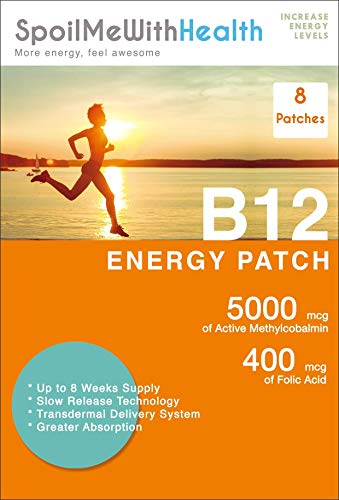 SpoilMeWith Health: B12 Patches (Methylcobalamin 5000 mcg) and folic Acid (0.4 mg). 8 Week Supply