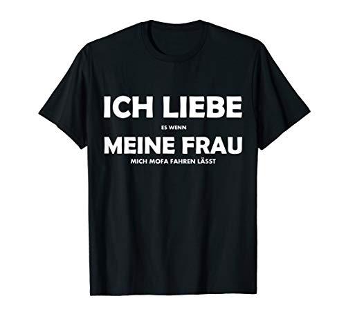 Herren Ich Liebe Meine Frau Moped lustiger Spruch Geschenkidee T-Shirt