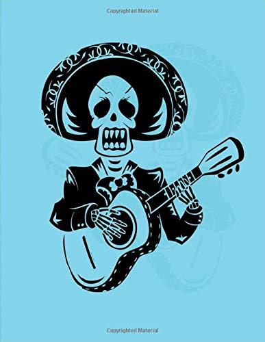 Dia de los muertos skull: Day of The Dead Skull Journal  | Sugar Skull Notebook | Día de los Muertos  2020  Regalo - Libro de Memoria con diseño de ... adults kids holidays Gifts | 8.5x11 Inches