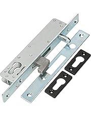 KOTARBAU® haakslot schuifdeuren insteekslot H-40 geleidepen schuifdeurslot haakvalslot verzinkt corrosiebestendig afsluitplaat toegangspoort