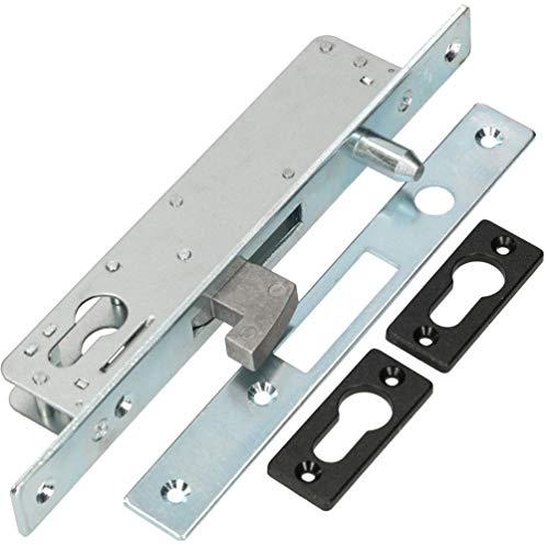 KOTARBAU® - Cerradura de gancho para puerta corredera H-40 con mandril de guía para puerta corredera de gancho resistente a la corrosión