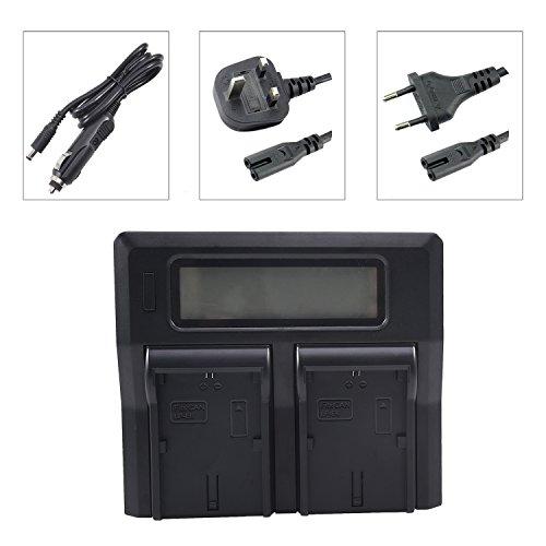 DSTE 1.5A Rápido Cargar Doble Batería Cargador Compatible con Canon LP-E6 LP-E6N EOS 5D Mark II/III/IV, 5DS, 5DS R, 6D 7D 60D 60Da 70D 80D 90D, 7D markII, 7D markIII, XC10, XC15 como LC-E6