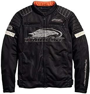 Harley-Davidson Official Men's Screamin' Eagle Mesh Riding Jacket, Black