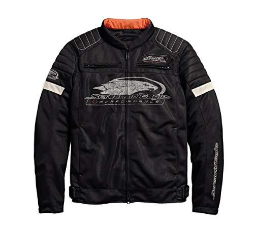 Harley-Davidson Men's Screamin' Eagle Mesh Riding Jacket, Black