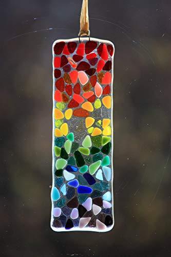 Love Birds ornamento colorato da appendere SUN Catcher Cristallo Effetto Resina realizzati a mano