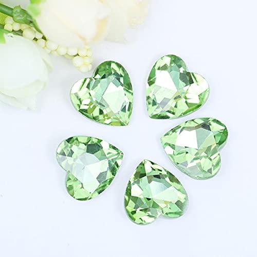 20 colores, 6 tamaños, opción, cristal, cristal, melocotón, diseño de corazón, pegamento en cuentas de diamantes de imitación, cubierta del teléfono, accesorios para vestido de novia, ajuste