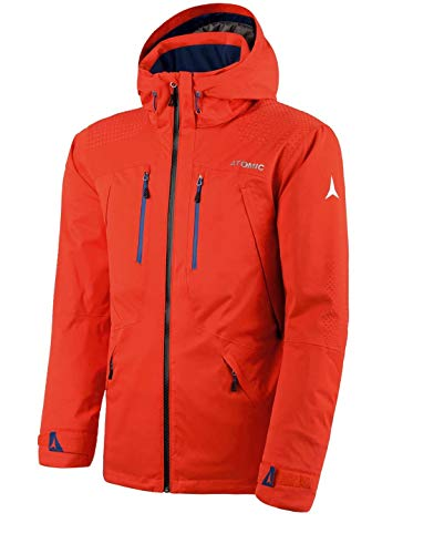 Atomic, Herren Ski-Jacke, Wasserdicht, Atmungsaktiv, Stretch, Alps Jacket, Größe: L, Orange-Rot, AP5027730