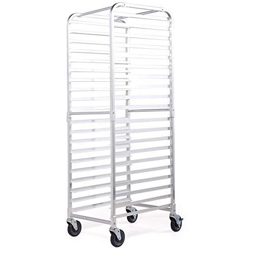 Sandinrayli Bakery Rack 20-Tier Commercial Kitchen Bun Pan Sheet Aluminum Pan Rack