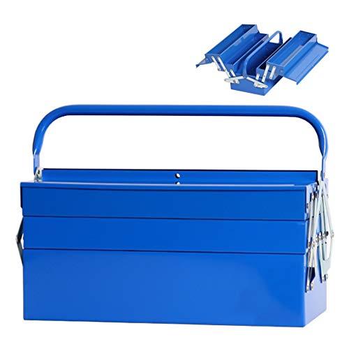 Caja de herramientas de servicio Caja de herramientas de metal en voladizo de 5 bandejas Caja de herramientas de metal de tres capas Reparación Caja de almacenamiento de hardware for el hogar del auto