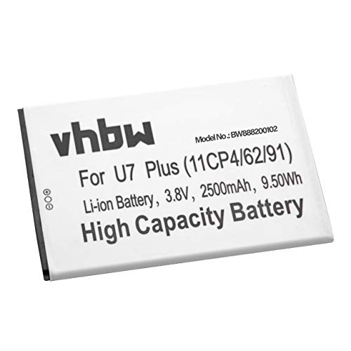 vhbw Li-Ion batería 2500mAh (3.8V) para móvil Smartphone teléfono Oukitel U7 Plus