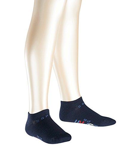 Esprit Unisex Kinder Foot Logo Sneakersocke, 2er Pack, Blau (Marine 6120)7-9 Jahre)31-34