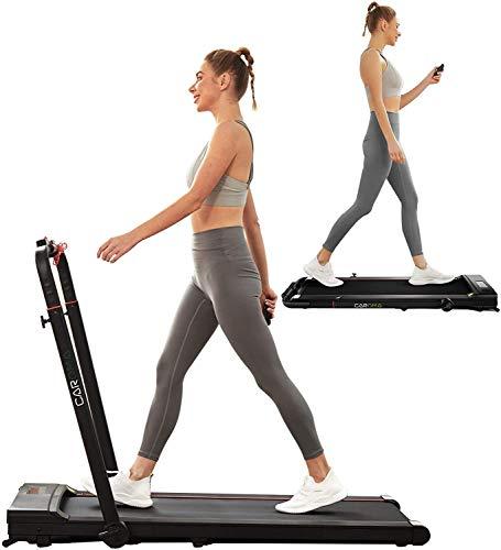 Laufband für Zuhause, faltbar, elektrisch, Fernbedienung und Steuerung per App 2 PS bis 12 km/h, platzsparendes Laufband, mit Bluetooth, Lautsprecher, für Indoor-Training