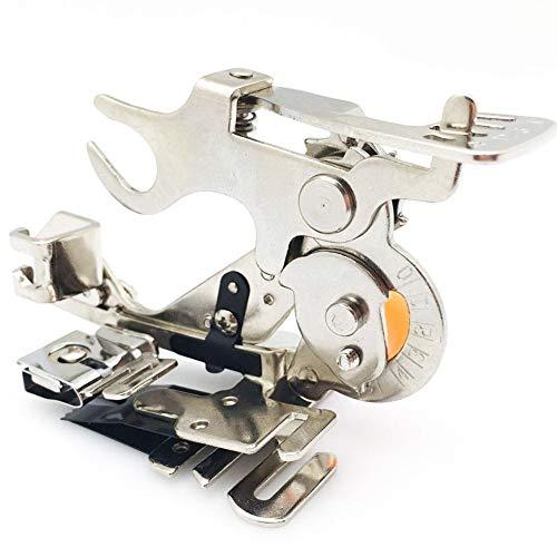 XCSM Se Adapta a Todas Las máquinas de Coser Ajustables con Rodillo de vástago bajo Pie prensatelas para máquina de Coser Apto para el Cantante Brother Janome Babylock Kenmore