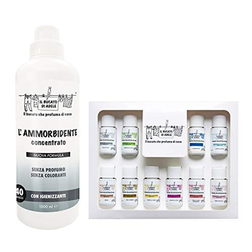 Il Bucato di Adele KIT Cofanetto profumatori concentrati per bucato10x20ml + Ammorbidente senza Profumo