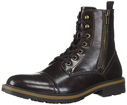 Unlisted by Kenneth Cole Men's Captain Cap Toe Boot Combat, Brown, 13 M US