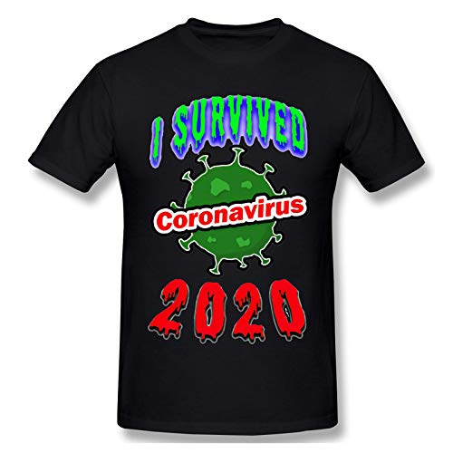 YDXH Nuevo Coronavirus del Patrón De La Camiseta COVID-19 Impreso De Análisis De La Manga Corta De La Camiseta,1,XL
