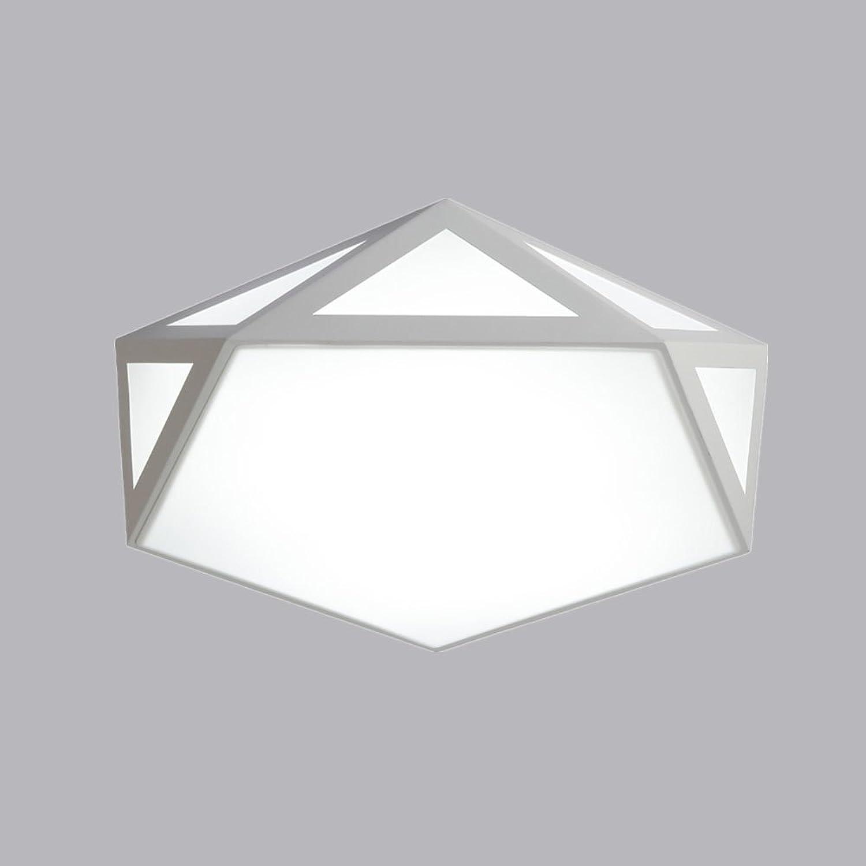 Rita Chao Kreative Decken Deckenleuchte LED Schlafzimmer Studie Deckenleuchte Eisen Acryl Deckenleuchte, D42cm H10cm (Farbe   Wei)