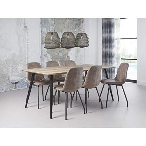 MATHI DESIGN Frame - Table Repas Effet Chêne
