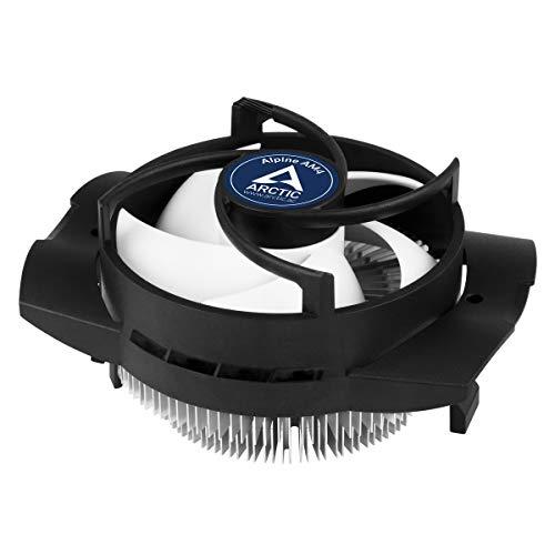 ARCTIC Alpine AM4 - Kompakter AMD CPU Kühler für AM4, Empfohlen für TDP bis zu 95 W, Wärmeleitpaste MX-2 voraufgetragen - Schwarz