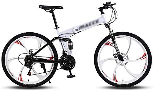 Bicicleta montaña adultos, ruedas 24/26 pulgadas bicicleta 21 velocidades Suspensión Engranajes MTB Frenos montaña Bicicleta montaña Bicicleta alto carbono Acero plegable Bicicletas Outroad-05-24